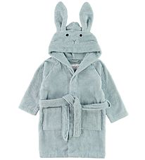 Liewood Bath Robe - Lily - Rabbit Sea Blue