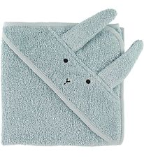 Liewood Hooded Towel - Albert - 70x70 - Rabbit Sea Blue