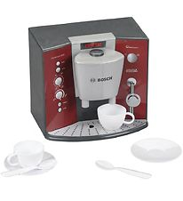 Bosch Mini Coffee Maker w. 2 Cups - Toy - Red/Grey