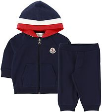 Moncler Sweat Set - Completo Maglia Card - Navy/Red