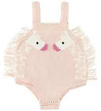 Stella McCartney Kids Bodysuit Sleeveless - Knitted - Rose w. Gi