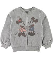 Wheat Disney Zip Cardigan - Mickey & Minnie - Grey Melange