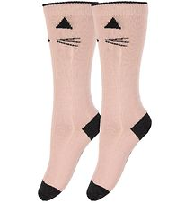 Liewood Knee High Socks - Sofia - 2-pack - Cat - Sweet Rose