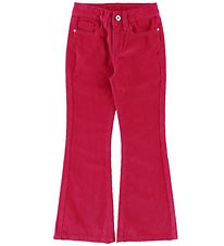 Grunt Trousers - Corduroy - Flare Cord - Neon Pink