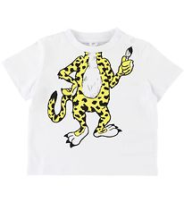 Stella McCartney Kids T-shirt - White w. Leopard