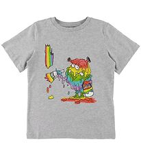 Stella McCartney Kids T-shirt - Grey Melange w. Monster