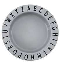 Design Letters Bowl - Tritan - 15,5 cm - Eat & Learn - Grey