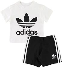 adidas Originals Set - Shorts/T-shirt - White/Black