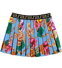 Versace Skirt - Light Blue/Roses