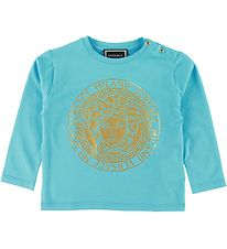 Versace Long Sleeve Top - Turquoise w. Medusa