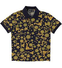 Versace Polo - Dark Blue w. Print