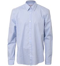 Hound Shirt - Striped Loose Fit Shirt - Light Blue/Striped