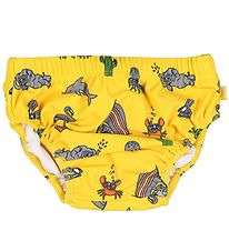 Småfolk Swim Diaper - UV50+ - Yellow w. Seaworld