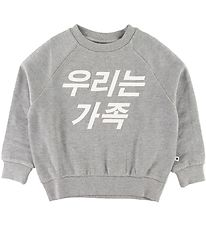 Molo Sweatshirt - Majana - Grey Melange w. Text