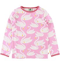 Småfolk Long Sleeve Top - Sea Pink w. Swans
