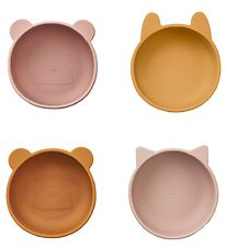 Liewood Bowls - 4pcs - Silicone - Rose/Mustard/Brown