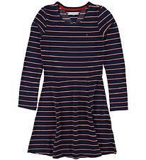 Tommy Hilfiger Dress - Navy w. Stripes