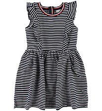 Tommy Hilfiger Dress - Navy/White Striped w. Ruffles