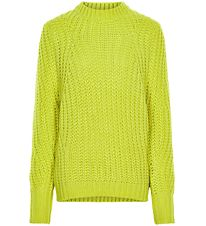 Cost:Bart Long Sleeve Top - Knitted - Ivala - Limeade