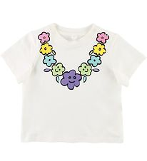 Stella McCartney Kids T-shirt - White w. Flower Necklace