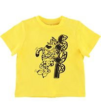 Stella McCartney Kids T-shirt - Yellow w. Leopard