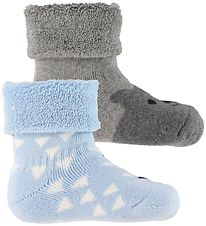 Melton Socks - 2-pack - Blue/Grey