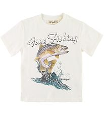 Soft Gallery T-shirt - Asger - Gone Fishing - White