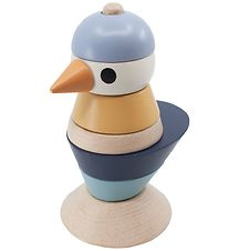 Sebra Stacking Tower - Bird - Denim Blue