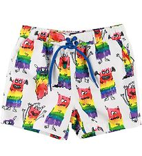 Stella McCartney Kids Swim Trunks - White/Monsters