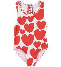 Stella McCartney Kids Swimsuit - White/Hearts