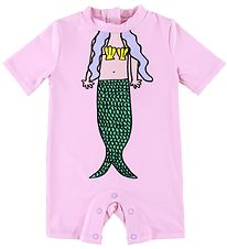 Stella McCartney Kids Coverall Swimsuit - Rose w. Mermaid