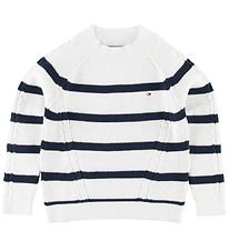 Tommy Hilfiger Jumper - Knitted - Nautical - White/Navy