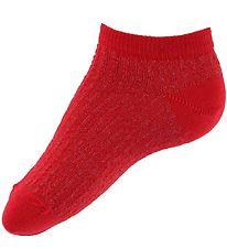 Melton Ankle Socks - Red/Glitter