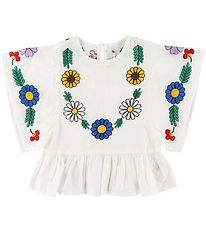 Stella McCartney Kids T-shirt - White w. Flowers