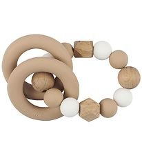 Tiny Tot Rattle Teether - Beige/Oat