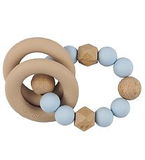 Tiny Tot Rattle Teether - Pastel Blue