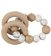 Tiny Tot Rattle Teether - Lightbrown Marble