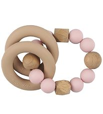 Tiny Tot Rattle Teether - Rose