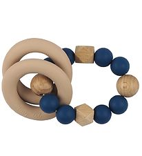 Tiny Tot Rattle Teether - Sapphire Blue