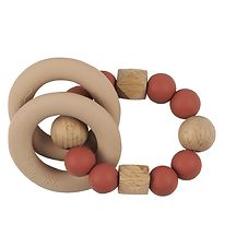 Tiny Tot Rattle Teether - Chestnut