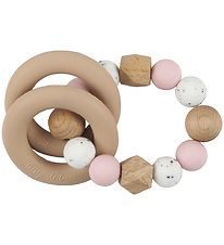 Tiny Tot Rattle Teether - Rose/Marble