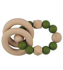 Tiny Tot Rattle Teether - Army Green