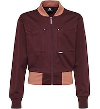 Hummel Teens Zip Cardigan - HMLNote - Bordeaux
