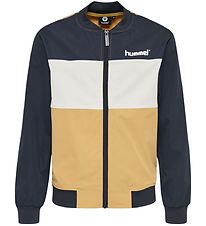 Hummel Teens Cardigan - HMLSilas - Navy/White/Brown