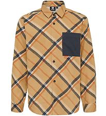 Hummel Teens Shirt - HMLJohn - Brown Checkered
