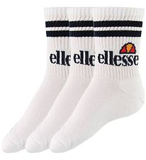 Ellesse Tennis Socks - 3-pack - Pullo - White
