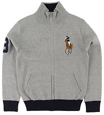 Polo Ralph Lauren Zip Cardigan - Knit - Grey Melange