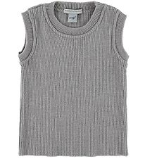 MP Knitted Vest - Wool/Cotton - Grey