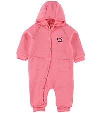 Me Too Pramsuit - Pink w. Butterfly
