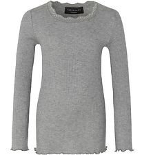 Rosemunde Long Sleeve Top - Grey Melange